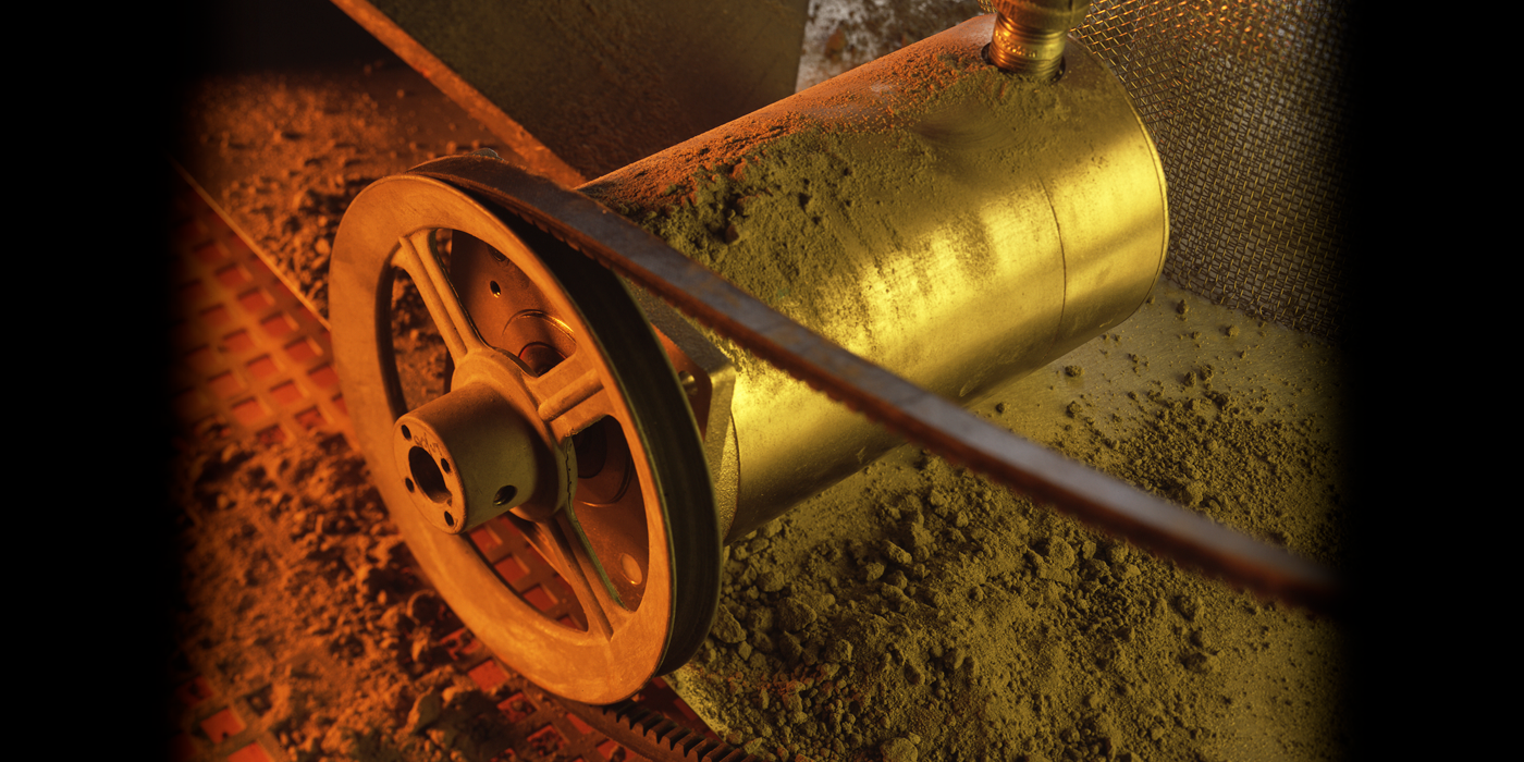 Dustproof motors for abrasive areas